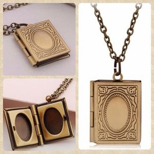Jewelry - Antiqued Book Locket.